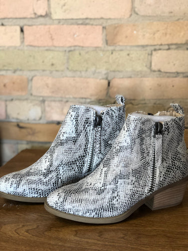 printed ankle boot
