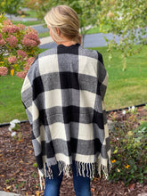 Load image into Gallery viewer, Buffalo plaid cape