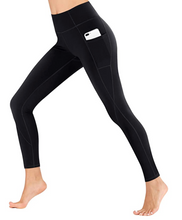 Load image into Gallery viewer, Full length black pocket leggings