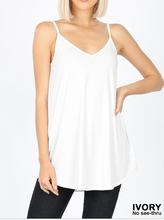 Load image into Gallery viewer, Reversible white tank