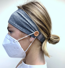 Load image into Gallery viewer, Button Headband for masks