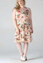 Load image into Gallery viewer, Floral Racerback dress (plus)