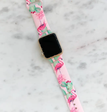 Silicon apple watch band