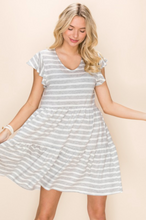 Load image into Gallery viewer, Hazy Striped Babydoll Dress