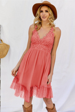 Load image into Gallery viewer, Tooling in Floral All in One Dress in Coral