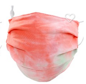 Pleat style washable face covering