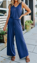 Load image into Gallery viewer, Navy tank jumpsuit