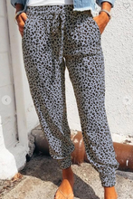 Load image into Gallery viewer, Grey Animal Print Jogger