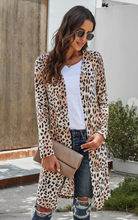 Load image into Gallery viewer, Leopard open duster