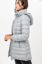 Load image into Gallery viewer, Long Puffer Jacket- grey