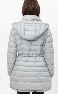 Long Puffer Jacket- grey