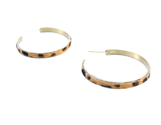 Animal Print Hoop Earring