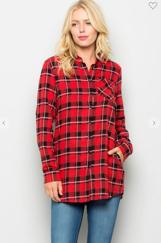 *Prime Special* Plaid Tunic top