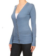 Load image into Gallery viewer, *Prime Special* Blue Snap Cardigan