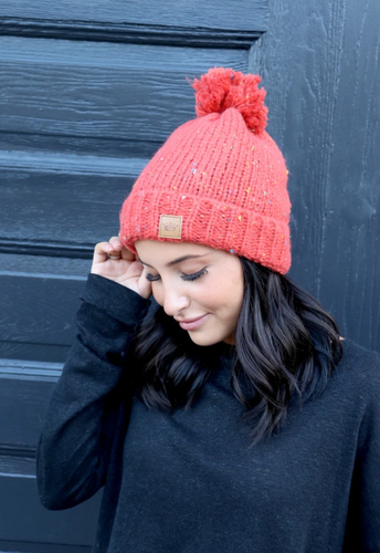 Orange speckled hat