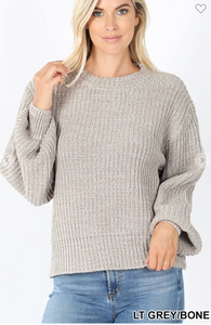 light grey crewneck sweater