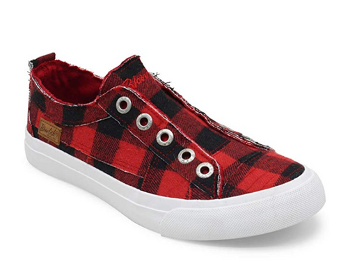 Red Plaid tennis shoes