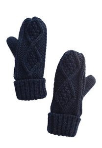 Fleece lined mittens (multiple colors)