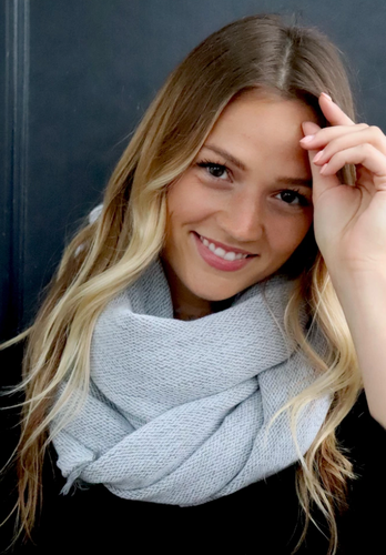 Light grey infinity scarf