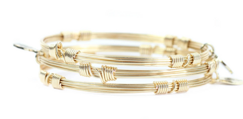 GOLD BANGLE STACKERS