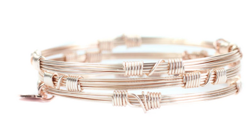 ROSE GOLD BANGLE STACKERS