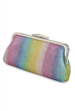 Load image into Gallery viewer, Rainbow Bright Rhinestone Clutch