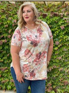 Sweet Symphony of Roses Hi Lo Tunic