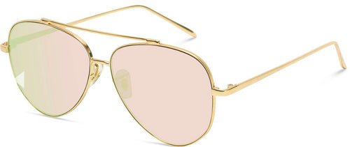 Women's pink lens aviator