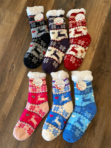 Sherpa slipper socks - adult