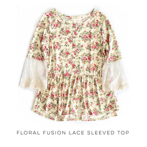 Floral Fusion Lace Sleeved Top