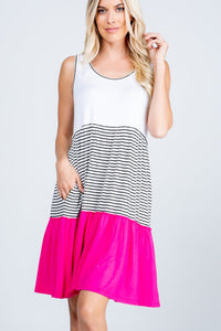 Go Out With a Bang Tiered Sleeveless Dress