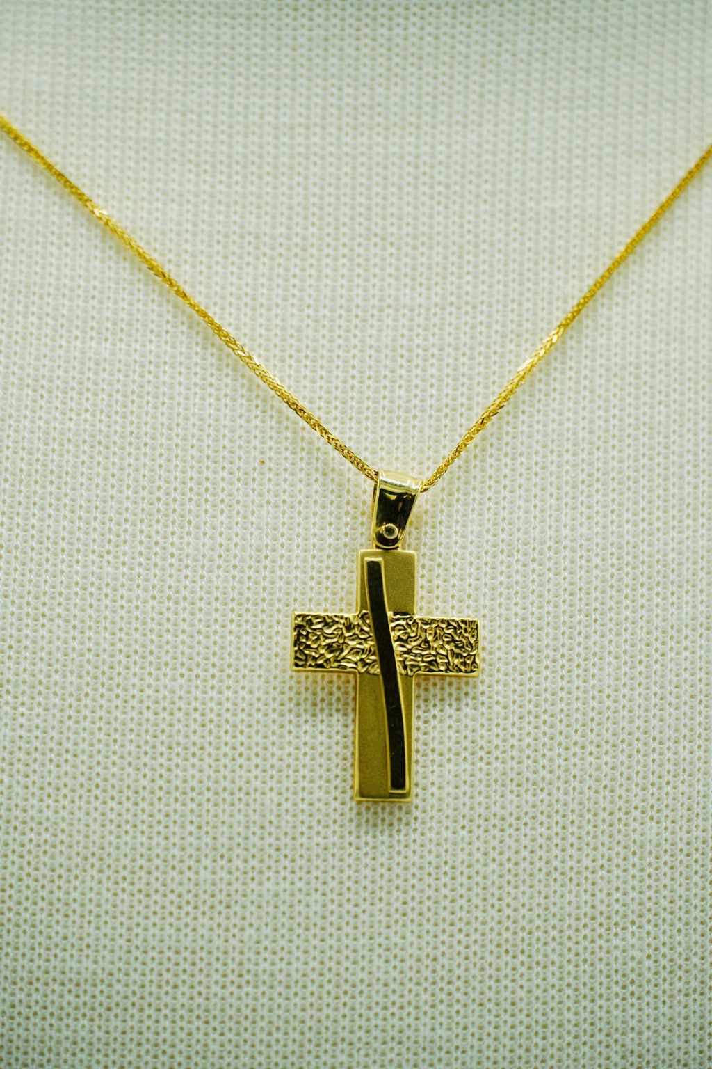 Modern Yellow Gold Cross