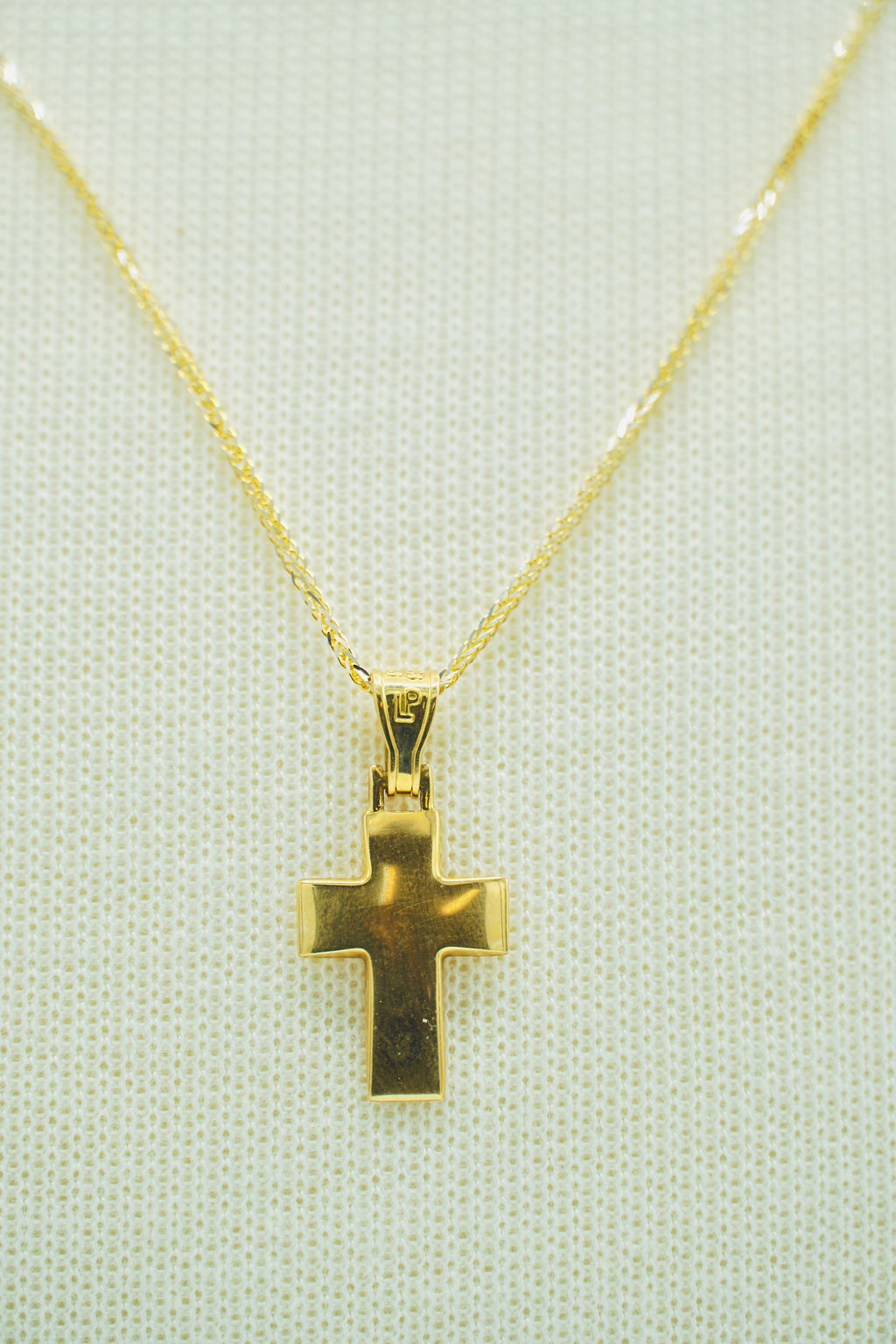 Yellow Gold Single Sided Cross