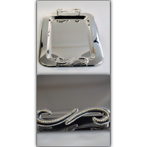 Swarovski Handle Silver Tray