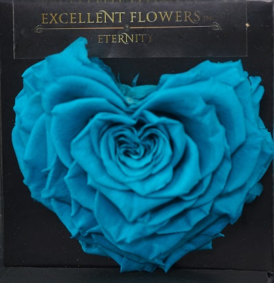 Heart rose: Ocean Blue Heart Shaped Jumbo