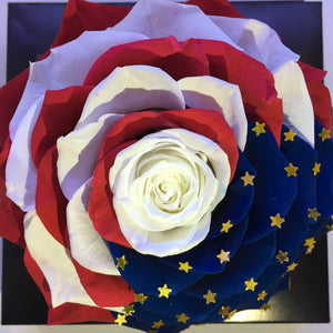 USA flag preserved rose