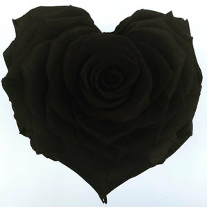 Black rose heart shape