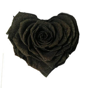 Heart rose: Black Pearl Heart Shaped Jumbo Rose