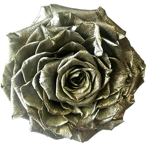 Jumbo rose: Metallic Silver Jumbo Rose