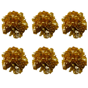 Carnations: Gold Preserved Carnation * Box of 6 Preserved Carnation Heads