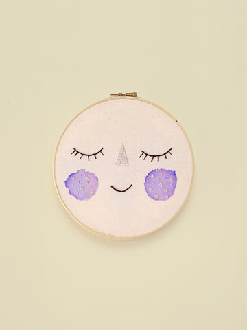 "Embroidery Hoop ""Baby Moon"""