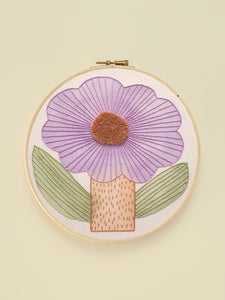 "Embroidery Hoop XL ""Flor"""