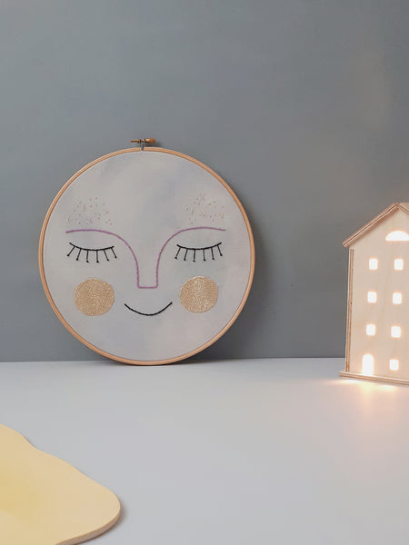 "Embroidery Hoop XL ""Full Moon"""