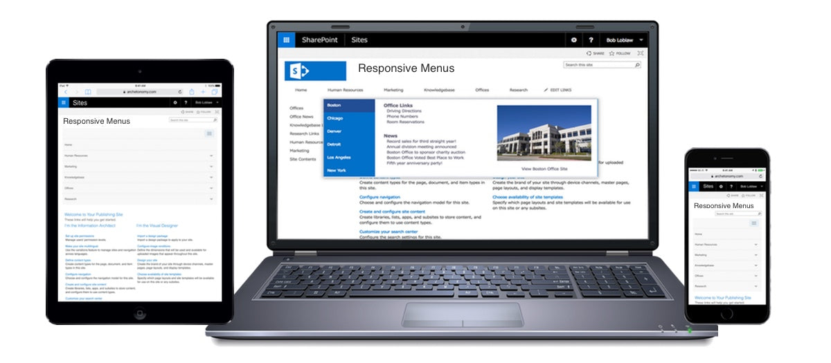 SharePoint Responsive Mega Menus on any device