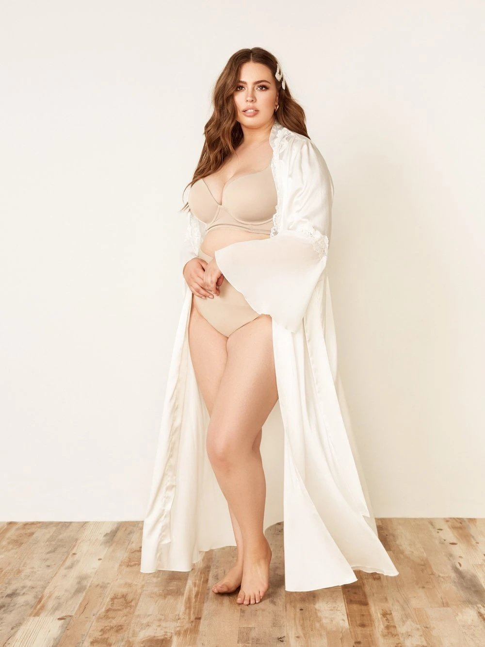 Bridal Lace & Chiffon Duster Robe - Youmita Lingerie