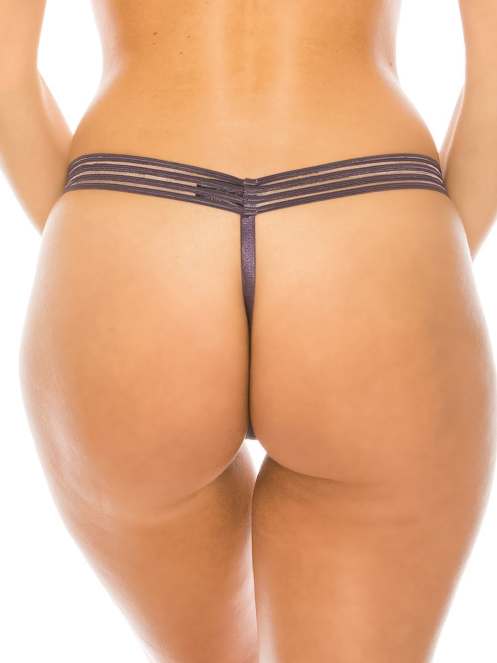 Sheer G-String Thong with Elastic Mesh Band - Youmita Lingerie