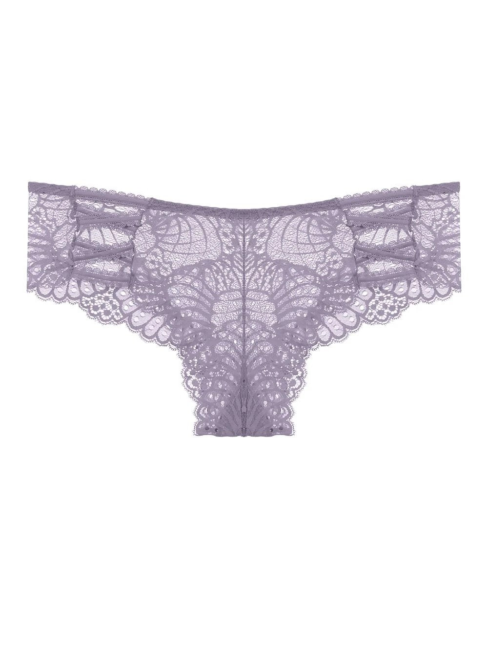 Pattern Lace Caged Hipster Panty - Youmita Lingerie