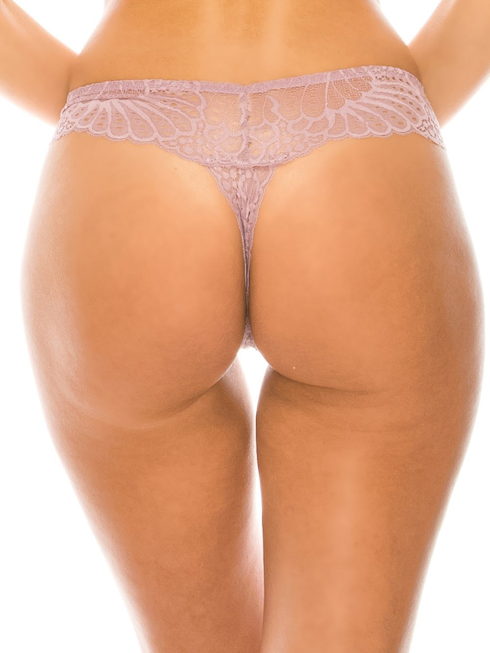 Pattern Lace Caged Thong - Youmita Lingerie