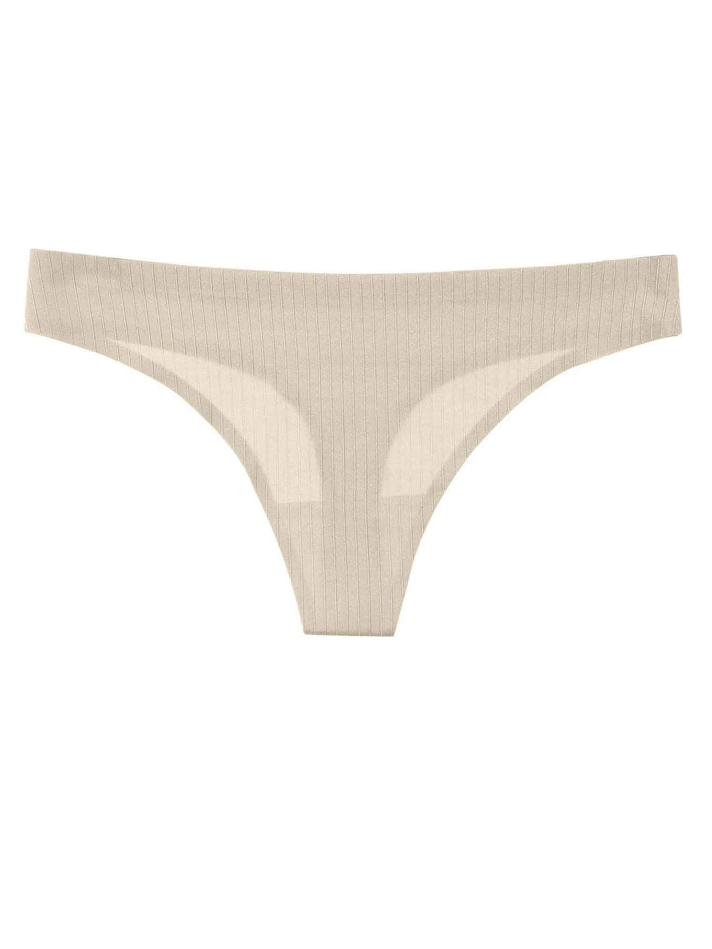 Striped Laser Cut Thong - Youmita Lingerie