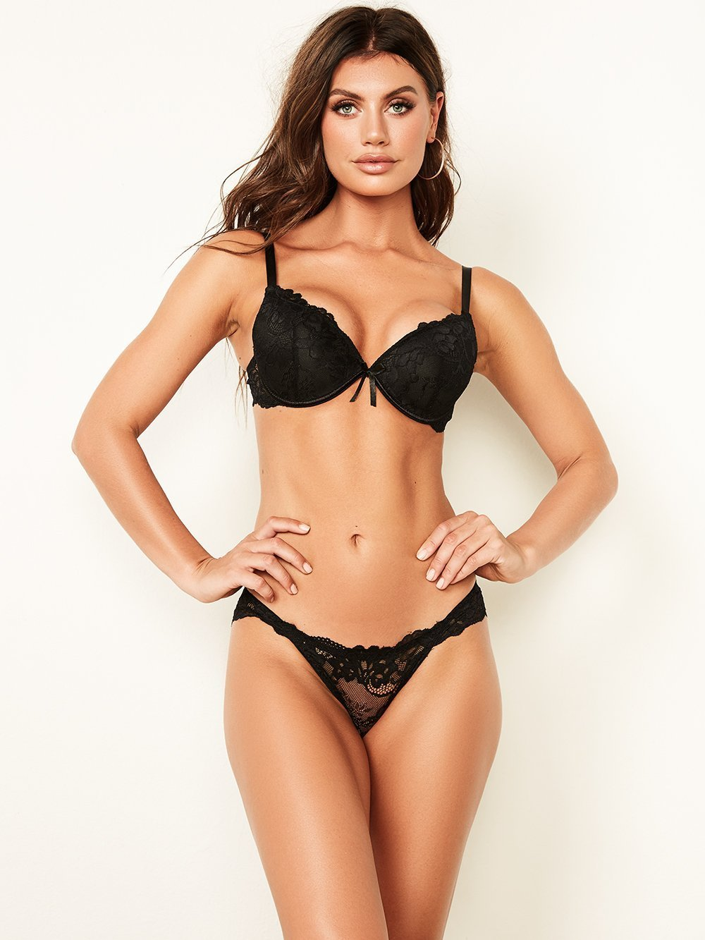Simple All Over Lace Push-Up Bra - Youmita Lingerie